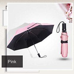 Parapluie Enfant Automatique Petit Parasol Pluie Femmes Trois Pliant Mignon Anti UV Par