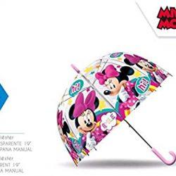 Parapluie Cloche Transparent Minnie Mouse 48 cm Manuel Camping et Randonnée Enfa