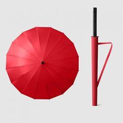 Parapluie Homme Grand Katana Parapluie, Coupe|Vent pour Homme, 24 Baleines Métalliques