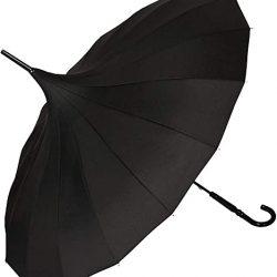 Parapluie Femme Von LILENFELD® Ombrelle Pagode Parasol Charlotte Noir