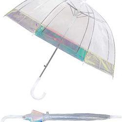 Parapluie Cloche Transparent Dôme pour Femme | Système d'ouverture Automatique |