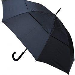 Parapluie Homme TRÈS Robuste 95KPH | Cadre Renforcé avec Fibre de Verre | Toile aérée, Vented Do