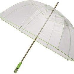 Parapluie Cloche Transparent droit | manuel | e | large |bord vert citron | Falco