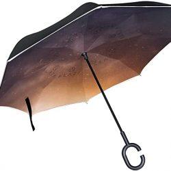 Parapluie Tikismile inversé pour galaxie – Coupe-vent – Protection UV – Pour voi
