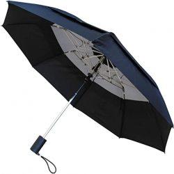 Parapluie Homme TRÈS Robuste | Rare 2 Plis | 80 km/h Acier TREMPÉ | Toile aérée, Vented Double C