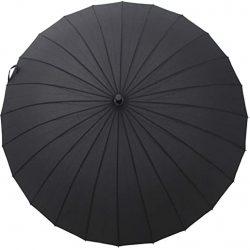 Parapluie Homme Long Très Solide | Résistant au Vent | Manche à l'Anglaise en Bois | A