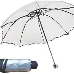 Parapluie Femme Transparent Spécial Grand Sac Fleurs Créatives pou