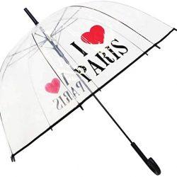 Parapluie Cloche Transparent SMATI I Love Paris
