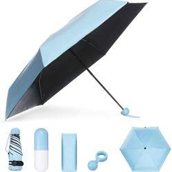Parapluie Enfant Pliant de Sac Compact Portable Séchage Rapide Résistance au