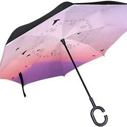 Parapluie Tikismile inversé anti-vent et anti-UV pour voiture et extérieur avec