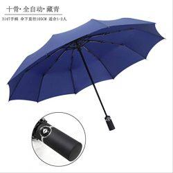 Parapluie Homme 50pcs 10K Automatique Trois Pliant Hommes Et  Affaires