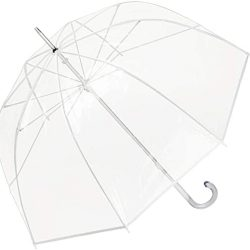 Parapluie Femme Transparent Translucide Grand Robuste Melina Blanc