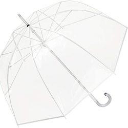 Parapluie Enfant Transparent Translucide Grand Robuste Melina Blanc