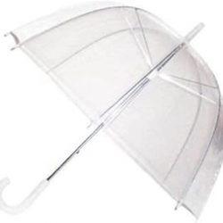 Parapluie Ardisle cloche | dome transparent | droit | automatique | bordure blan