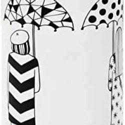 Parapluie Femme vidaXL Porte | Femmes Acier Blanc Support Meuble d'Entrée