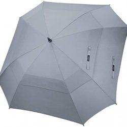 Parapluie Femme Grande de Golf 62/68 Pouce Carré Double Canopée Anti Vent Au