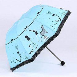 Parapluie Enfant en Forme de Coeur Princesse Nouveau cintré créatif Pliant Parasol en D