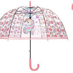 Parapluie Licorne Transparent, Enfant Transparent pour Cloche Grand Au