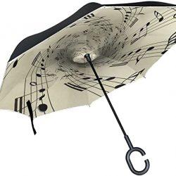 Parapluie XiangHeFu Double Couche symétrie Inversée parapluies Notes de Musique sur Vieux