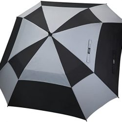 Parapluie Homme Grande de Golf 62/68 Pouce Carré Double Canopée Anti Vent Au