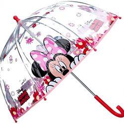 Parapluie Enfant à dôme manuel transparent avec motif Minnie Mousepour enfant60 cm