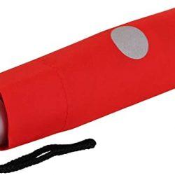 Parapluie Enfant Mini enfants de poche rouge Rouge vif 91 cm