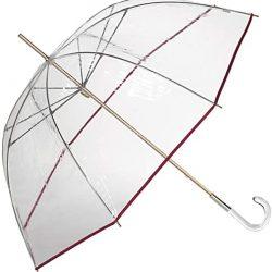 Parapluie Cloche Transparent Long et Coupe|Vent pour Femme avec Forme | Manuel a