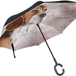Parapluie XiangHeFu Parapluies inversés inversés Double Couche Mignon Animal Beagle Chien