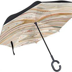 Parapluie Tikismile – inversé en acrylique – Coupe-vent – Protection UV – Pour v