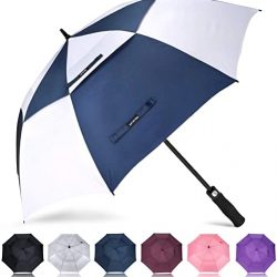 Parapluie Pliant Grand Golf Automatique 158cm Double Canne | Anti UV