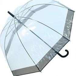 Parapluie Cloche Transparent Bord Noir