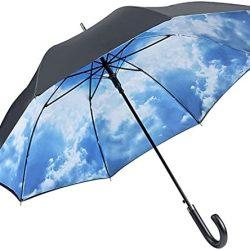 Parapluie Femme VON LIILENFELD® Automatique Homme Double Épaisseur Motif Ciel ha