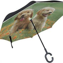 Parapluie Tikismile inversé pour chien avec poignée en forme de C