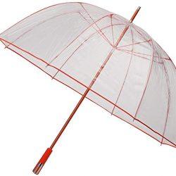 Parapluie Cloche Transparent Grand pour Femme, Extra Long de 1 Mètre,