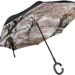 Parapluie Tikismile inversé coupe-vent et anti-UV pour voiture et extérieur avec