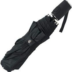 Parapluie Homme Grid pliant, 104 cm, Black