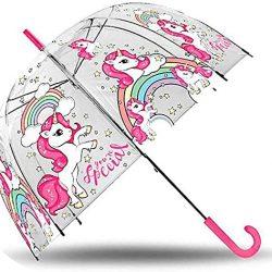 Parapluie Kids Licensing KL10089 Classique Transparent Cloche 48 cm Manuel de Li