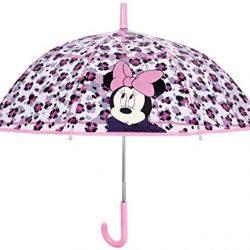 Parapluie Enfant Fille Transparent Minnie Mouse – Automatique – Cloche pour F