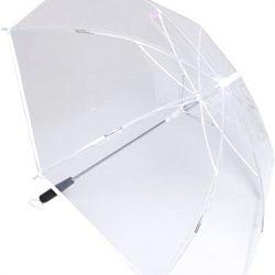 Parapluie 7 Couleurs LED Transparent 8K Cannes 190T Plastique Manipuler Lampe de