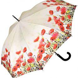 Parapluie Femme Automatique Motf Floral Coquelicots
