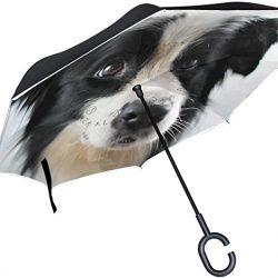 Parapluie Tikismile inversé pour chien Coupe-vent Protection UV pour voiture Plu