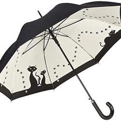 Parapluie Femme Automatique Motif Chats Noirs Double Épaisseur
