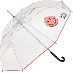 Parapluie Cloche Transparent pour Enfant et Adolescent Smiley World | Solide, An