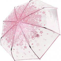 Parapluie Enfant LAAT Romantique Sakura Pétales Coupe-vent Transparent pour F