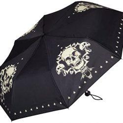 Parapluie Homme Automatique Pliant Mini Légèrement Stable Femme Skulll Crâne