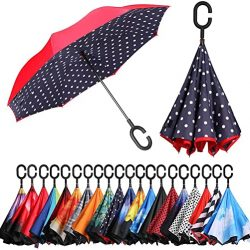 Parapluie Pliant by Amazon | Inversé | Anti | UV Double Couche Coupe | V