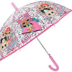 Parapluie Enfant LOL Surprise Transparent Rose Fille Fillette avec MC Swag VRQT 80s BB