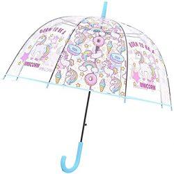 Parapluie Licorne Transparent pour Cloche Enfant | Solide, Antivent et Long | Ou