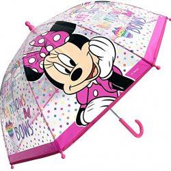 Parapluie Enfant Minnie arc-en-ciel fillette transparentmanuel45 cm.