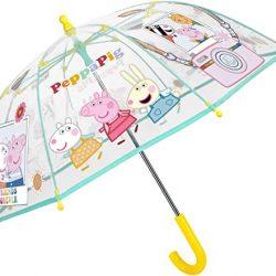 Parapluie Cloche Transparent Peppa Pig Enfant Fille 3/5 Ans | Multicol